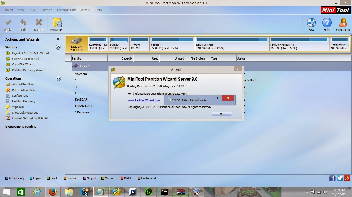 minitool partition wizard server 9.0